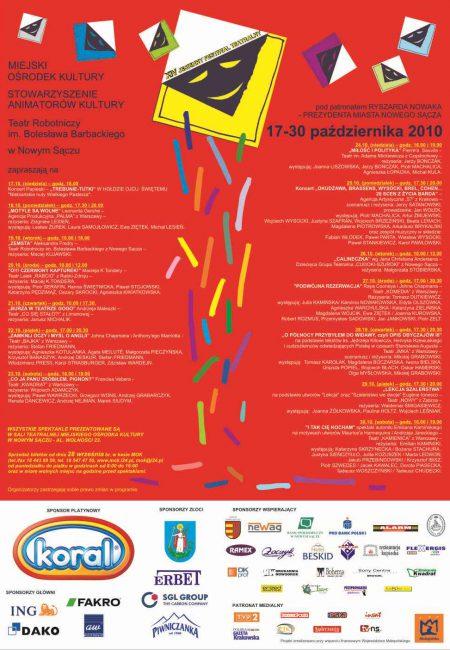 Festiwal - plakat 2010 czerwony DRUK